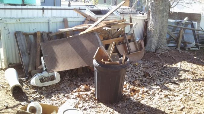 My junk pile AFTER spending an hour throwing stuff away